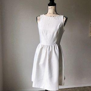 Kensie Dresses White Polka Dot Tea Dress S EUC